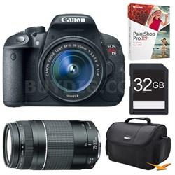 EOS Rebel T5i SLR Digital Camera w/ 18-55 & 75-300 Lenses + Adobe Bundle