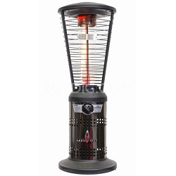 10,000 BTU Mini Ember Tabletop Liquid Propane Gas Patio Heater - Gun Metal