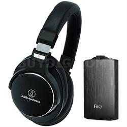 SR7 SonicPro High-Resolution Noise Cancellation Headphones w/ FiiO A3 Amplifier
