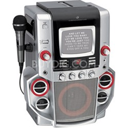 "JM258 - CD G Karaoke System with 5"" Black-and-White Monitor"