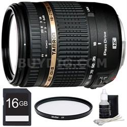 18-270mm f/3.5-6.3 Di II VC PZD Aspherical Canon Lens 16 GB Bundle