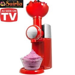 Swirlio Frozen Fruit Dessert Maker - Red/Silver