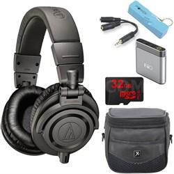 ATH-M50xMG Limited Edition Professional Studio Monitor Headphones A1 Amp Bundle
