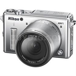 1 AW1 14.2MP Shock Waterproof Digital Camera w/ 11-27.5mm Lens (Silver) REFURB