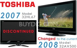 "32HL67 - 32"" High-definition LCD TV (changed to the 32AV500 current 2008 model)"