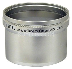 LA-S2 58mm Lens Barrel Adapter For CANON PowerShot S2 / S3