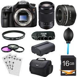 SLTA65V - a65 Digital SLR Camera 24.3 MP with 55-300mm & 50mm f1.8 Lens Bundle