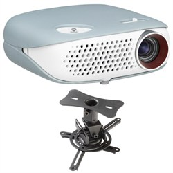 PW800 HD Compact Smart Portable Minibeam Projector Theater Ceiling Mount Kit