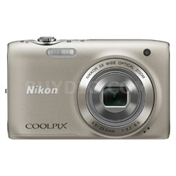 COOLPIX S3100 14MP 5x Zoom Silver Compact Digital Camera - Refurbished