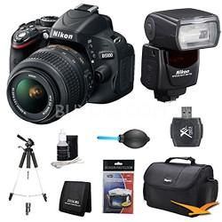 D5100 DX-format DSLR Body w/ 18-55mm VR Lens SB-700 AF Speedlight Pro Flash Kit