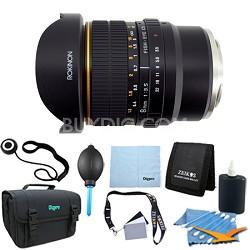 8mm f/3.5 Fisheye CS Lens for Sony E-mount (NEX & VG10) - Lens Kit Bundle