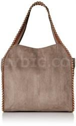 Grayson Shoulder Bag - Suede Cement