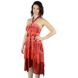 100 Way Wrap Skirt Dress, Fiji Floral - Red (One Size)