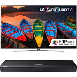 65-Inch Super UHD HDR Smart TV - 65UH9500 + Samsung 4K Blu-Ray Player