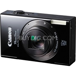 PowerShot ELPH 530 HS WI-FI Black Camera w/  12x Zoom & 3.2 inch Touch LCD