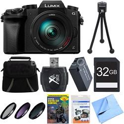 LUMIX G7 Interchangeable Lens 4K Video DSLM Camera w/ 14-140mm Lens 32GB Bundle