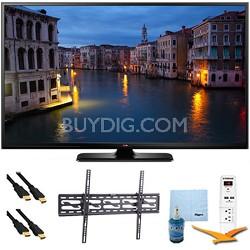 "60PB6650 - 60"" HD 1080p 600Hz Smart Plasma TV Tilt Mount & Hook-Up Bundle"