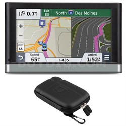 "nuvi 2597LMT 5"" Bluetooth GPS System Lifetime Maps/Traffic Case Bundle"