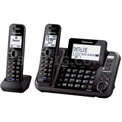 2-Line Phone with Answering Machine and 2 Cordless Handsets - KX-TG9542B