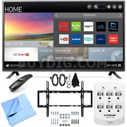 60LF6100 - 60-inch 120Hz Full HD 1080p Smart LED HDTV Tilt Mount/Hook-Up Bundle