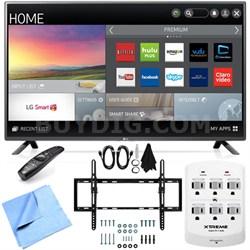 60LF6100 - 60-inch 120Hz Full HD 1080p Smart LED HDTV Tilt Mount/Hook-Up Bundle