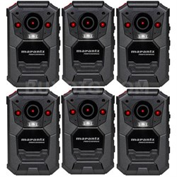 6-Pack Professional Grade Bodycam Wearable Body Video Camera w/ GPS (PMD-901V)