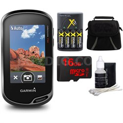 Oregon 750 Handheld GPS with Built-In Wi-Fi, Camera & Bluetooth 16GB MicroSD Kit