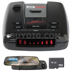 Passport S55 High Performance Radar & Laser Detector w/Dash Cam + 16GB MSD Card