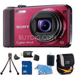Cyber-shot DSC-HX7V Red Digital Camera 8GB Bundle