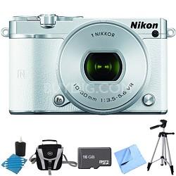 1 J5 Digital Camera w/ NIKKOR 10-30mm f/3.5-5.6 PD Zoom Lens White Bundle