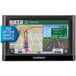 "65LMT 6"" GPS w/ Spoken Turn-By-Turn Direction & Lifetime Map & Traffic updates"