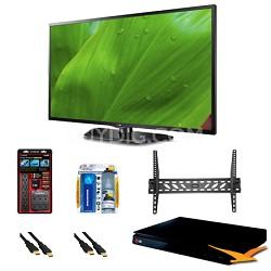 55LN5700 55 Inch 1080p Smart TV 120Hz Dual Core Direct LED BluRay Bundle