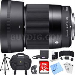 30mm F1.4 DC DN Lens for Micro 4/3 Mount Essential Accessory Deluxe Bundle