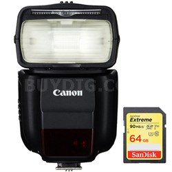 430EX III-RT EOS Speedlite Flash with Wireless Capability w/ 64GB Memory Card