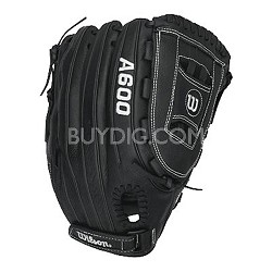 "A600 All Position 12.5"" Black/Grey Baseball Glove - Right Hand Throw"