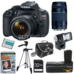 EOS Rebel T5 SLR Digital Camera Baby and Family Photographer Bundle