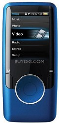"Blue MP3 Video Player with 1.8"" Display, 4 GB Flash Memory & FM"