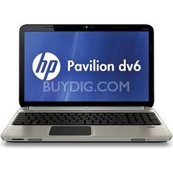"""Pavilion 15.6"""" DV6-6C10US Entertainment Notebook - AMD Quad-Core A6-3420M Proc."""