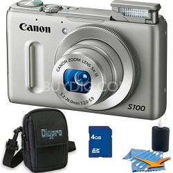 PowerShot S100 Silver Digital Camera 4GB Bundle