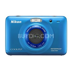 COOLPIX S30 10.1MP 2.7 LCD Waterproof, Shockproof Digital Camera - Blue