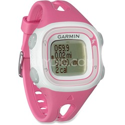 Forerunner 10 GPS Enabled Running Watch with Virtual Pacer (Pink/White)