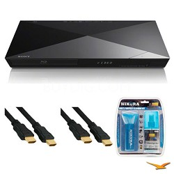 4K Upscaling BDP-S6200 Dual Core Blu-ray Disc Player HDMI Cable Bundle