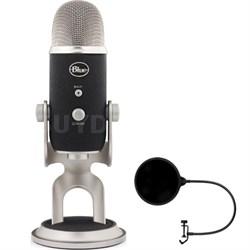 Yeti Pro USB Condenser Microphone, Multipattern w/ Pop Shield Wind Screen