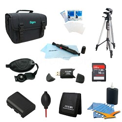 Loaded Value Tripod & LP-E6 Battery Kit for Canon 5D Mark III,6D  & 60D