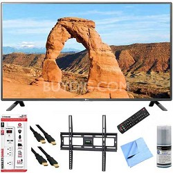 49LF5500 - 49-inch 1080p 60Hz LED HDTV Plus Mount & Hook-Up Bundle