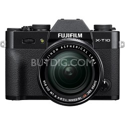 X-T10 Mirrorless Black Digital Camera with XF18-55mm F2.8-4 R LM OIS Lens