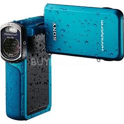HDR-GW77V/L HD 20.4 MP Waterproof, Shockproof, Dustproof Camcorder (Blue)