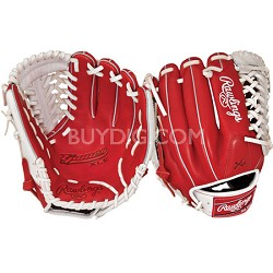 Gamer XLE Series Baseball Glove 11.75 - Red/White Right Hand Throw