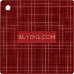 Square Silicone Trivet/Pot Holder - Red