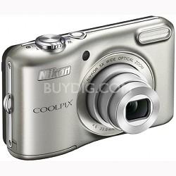 COOLPIX L28 20.1 MP Camera w/ 5x Zoom NIKKOR Lens - Silver Refurbished